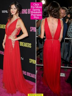 Selena Gomez Red Carpet Dresses | Selena Gomez Spring Breakers LA Premiere — She's Radiant In Red ...
