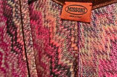 "Missoni is a high-end Italian fashion house based in Varese, and known for its colorful knitwear designs. The company was founded by Ottavio (""Tai"") and Rosita Missoni in 1953."