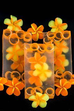 Plumeria Clear Glycerin Soap