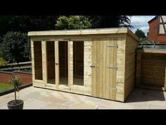 How to Build a Shed. How to Build a Shed House. How to Build a Shed Step by Step. ♦DIY CAM♦ Level the ground (if necessary) and install deck piers along a gr. Wood Shed Plans, Free Shed Plans, Shed Building Plans, Outdoor Storage Sheds, Outdoor Sheds, Shed Storage, Home Depot Shed, Cheap Sheds, Shed Construction