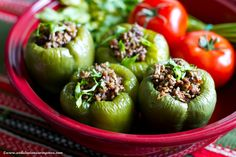 Under the Andalusian Sun food, wine and travel blog: Spece të mbushur- Albanian stuffed peppers and Hispano+Suizas Bassus Pinot Noir