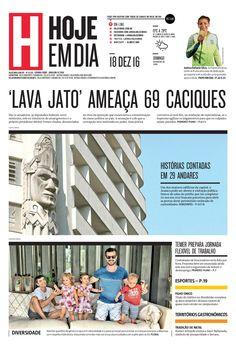 Capa do dia 18/12/2016 #HojeEmDia #Jornal #Notícias #News #Newspaper