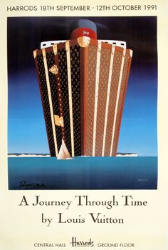 I have to find this and frame it in the library with my collection of vintage poster.  My late Brother love LV and cruises, so....A JOURNEY THROUGH TIME ORIGINAL VINTAGE POSTER  by  RAZZIA