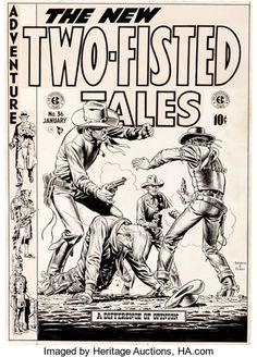 Original Comic Art:Covers, John Severin and Bill Elder Two-Fisted Tales #36 CoverOriginal Art (EC, 1954)....