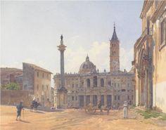 The Basilica of Santa Maria Maggiore in Rome by Rudolf von Alt, 1837.