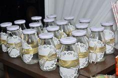 Garrafinhas personalizadas da festa princesa para suco -