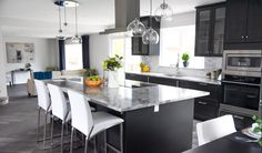 #kitchen #kitchens #modern #contemporary #sleek #ikea #yeg #design #interiordesign #decor #granite #open #herringbone floor #vinylplank #edmontondesigner #greys #whites #marblelook Plank, Ikea, Interior Design Services, Vinyl, Interior Decorating, Herringbone, Modern Contemporary, Granite, Kitchen Ideas