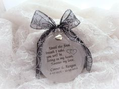Memorial Ornament Quote, Until the Final Breath I take, with charm Heaven Poems, M M Candy, Memorial Ornaments, The One Show, Own Quotes, How To Make Ornaments, Glass Ornaments, Take My, I Am Happy