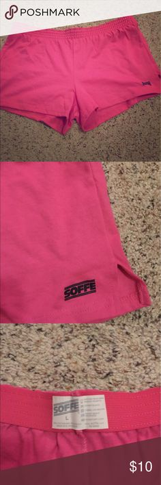 Soffe cotton shorts Super soft. Ordered them online and they are too small so I never wore them. Soffe Shorts