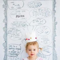 Birthday Poster -- guests write what they think the child will be when they grow up and then you take a picture of it.