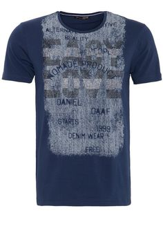 Daniel Daaf T-Shirt, mit Front Druck und Strass Applikation für 22,99€. Trendy Fashion Shirt von Daniel Daaf, Hochwertiger Baumwolljersey, Slim Fit bei OTTO