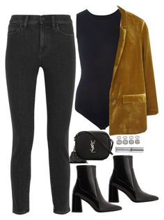 """""""Untitled #1832"""" by samikayy76 ❤ liked on Polyvore featuring Maison Margiela, MANGO, Madewell, Yves Saint Laurent, Topshop and Urban Decay"""