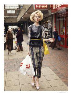 Wylie Hays for Stylist Magazine. Fashion photographer David Titlow