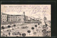 Kolín, tramvaje - fantaskní představa, 1909