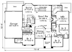 One Story House With Two Master Suites One Story House With Large