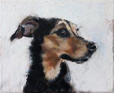 "Daily Paintworks - ""Baxter"" - Original Fine Art for Sale - © Clair Hartmann"
