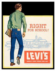 #Levis vintage ad, courtesy of Barberline.fr