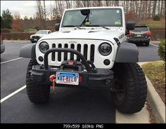 Black JW Speaker Headlights on White JK- Would be a great upgrade for safety as these lights are much better visible Jeep Jeep, Jeeps, Safety, Branding, Trucks, Lights, Cars, Projects, Black