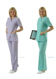 NU-06 NURSE UNIFORM • Top & Pant • Alpaca fabric, %65/35 poly/viscose • V-collar • One chest and two patch pockets • Short or long sleeve options • Closed front • Wrinkle resistant • No yellowing • Color: White • Optional pastel colors • Sizes(US): XS – S -M - L - XL -2XL -3XL • Sizes(EU): 36 -38 -40 -42 -44 -46 -48