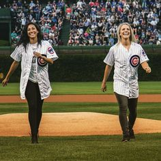 """""""When you throw strikes at the Cubs game... Thanks @Cubs for honoring us last night! #latergram #crs07 #USWNT"""" Photo taken by @christenpress on Instagram, pinned via the InstaPin iOS App! http://www.instapinapp.com (09/01/2015)"""