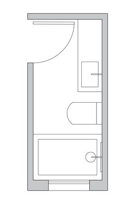 Long and narrow Bathroom Layout