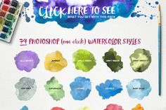 Watercolor KIT for Photoshop - Layer Styles