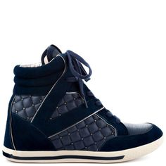 TOO COOL FOR SCHOOL! Except I totally need these sneakers for grad school. Follie - Navy Steel True Nappa by Vince Camuto