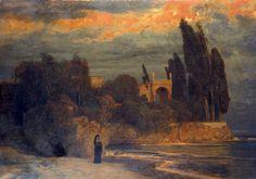 Le Prince Lointain: Arnold Böcklin (1827-1901), Villa am Meer -  1871/...