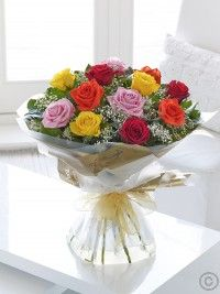 Order flowers online from Interflora. All bouquets are expertly crafted by local florists and hand-delivered to the door. Online Flower Shop, Order Flowers Online, Hand Tied Bouquet, Valentines Flowers, Flowers Delivered, Send Flowers, Local Florist, Floral Bouquets, Yellow Roses