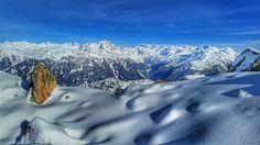Winter panorama above St. Gallenkirch, Silvretta Alps