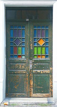 door,Copenhagen.Denmark            stained glass            Copenhagen            Denmark