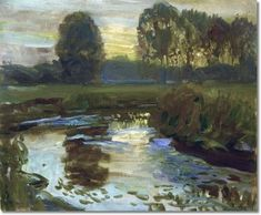 Evening at Hoxne By Sir Alfred James Munnings 1909