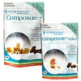 The perfect treat for a dog who is scared of thunder storms or fireworks.   Composure Bite-Sized Chews - Manages Anxiety - 1800PetMeds