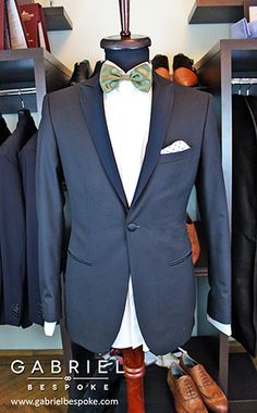 Black tuxedo made to measure by Gabriel Bespoke  #black #tuxedo #gabriel #bespoke #madetomeasure #cerruti