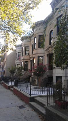 74th Street. Beautiful row of limestone homes Bay Ridge NY 11209  I still stand by the idea that if I ever move back in my lifetime, this is where I'd like to be.