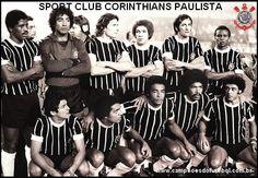 Corinthians 1977 Em pé: Zé Maria, Tobias, Moisés, Russo, Ademir e Wladimir. Agachados: Vaguinho, Basílio, Geraldão, Luciano e Romeu