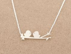 Love Birds Necklace by JambersTreasures on Etsy