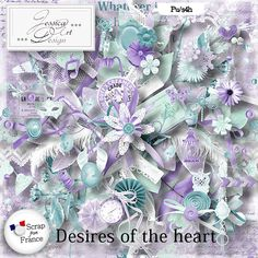 """Desires Of The Heart from Jessica Art Design at From France! Don't miss to """"subscribe to the designer"""" to follow all the releases of your favorite designer (click on the left button ...near """"add to cart""""). Desires Of The Heart; http://scrapfromfrance.fr/shop/index.php?main_page=product_info&cPath=88_262&products_id=10053. 06/15/2015"""