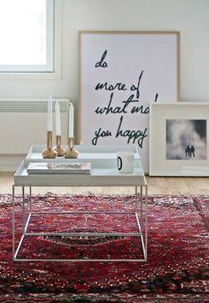 Carpet as a contrast - Interior Livingroom
