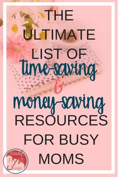 These time-saving resources for busy moms are better than the best life hacks! If your life is too crazy to handle meal planning, saving money, managing finances, living frugally, and taking care of your family and home, then you need to take advantage of the resources and tips these companies have to offer. I promise your life will be easier, and you will be happier.
