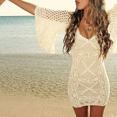 Perfect dress for cocktails on the beach.
