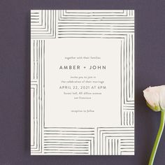 """Wedding Planning """"Pattern Play"""" - Wedding Invitations in Pebble by Seven Swans. Budget Wedding Invitations, Beautiful Wedding Invitations, Wedding Stationary, Party Invitations, Plan Your Wedding, Wedding Tips, Wedding Planning, Wedding Cards, Wedding Details"""