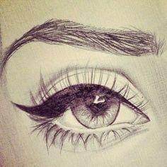 art, beautiful, drawing, drawings, eye, realistic, realistic drawing, eye drawing