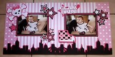 Baby Scrapbook layout with skull, star and sneaker images
