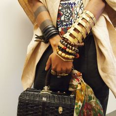 Fabulous Fall Fashion 2013.  Women's fashion and accessories. Jewelry. Bracelets / this look reminds me of vanessa from gossip girl, is bohemian chic really going strong this fall?