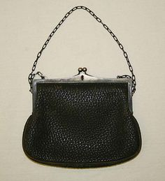 Leather and metal purse 1905