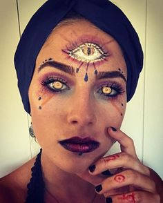 31 Days of Halloween Makeup: Day 19 Fortune Teller #oldpicbcjennas21 #fortuneteller #halloweenmakeup #31daysofhalloween #31daysofhalloweenmakeup #fortunetellermakeup #sfx #sfxmakeup #fxmakeup #fxmakeupartist #wetnwild #wetnwildbeauty #fiercefantasy2016