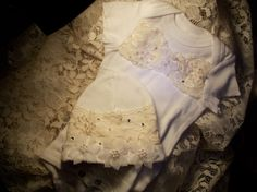 Embellished Baby Onesie with a Victorian by LucyAliasBabyCloset