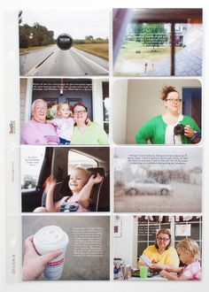 How to finish your Week in the Life project simply. (Page layout by Jennifer Wilson of Simple Scrapper)