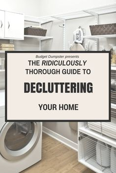 to Declutter Your Home: A Ridiculously Thorough Guide Don't start your spring cleaning until you've read this! Over 80 tips for decluttering your home.Don't start your spring cleaning until you've read this! Over 80 tips for decluttering your home. Konmari, Home Organisation, Life Organization, Household Organization, Declutter Your Home, Organizing Your Home, Organizing Ideas, Decluttering Ideas, Declutter Bedroom
